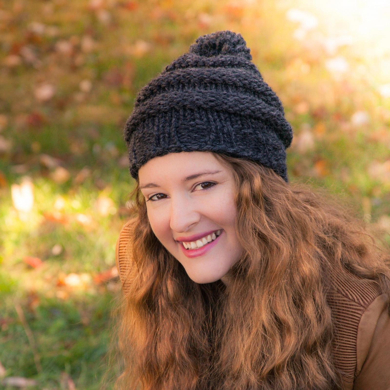Loom Knit Hat PATTERN, City Storm Urban Style Hat, beginner, slouch ...