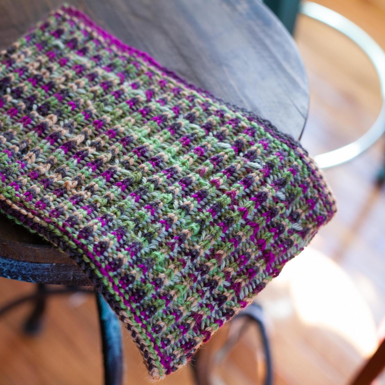 Loom Knit Brioche Cowl Pattern, Neckwarmer, Fancy Brioche PDF Pattern. This...