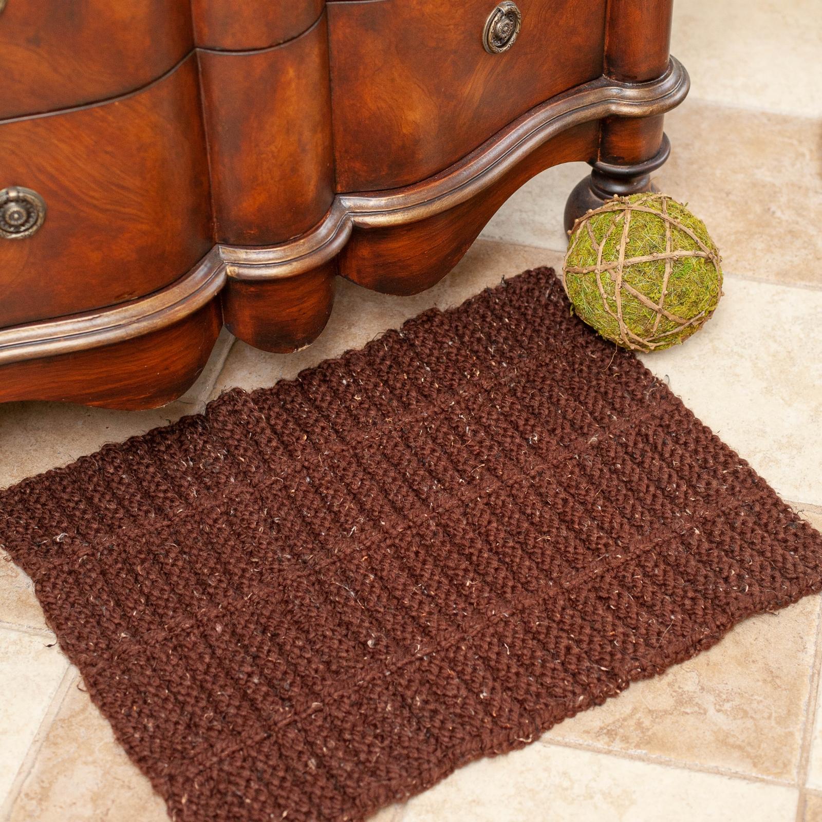 Loom Knit Rug PATTERN. Use as an accent rug, bathmat ...