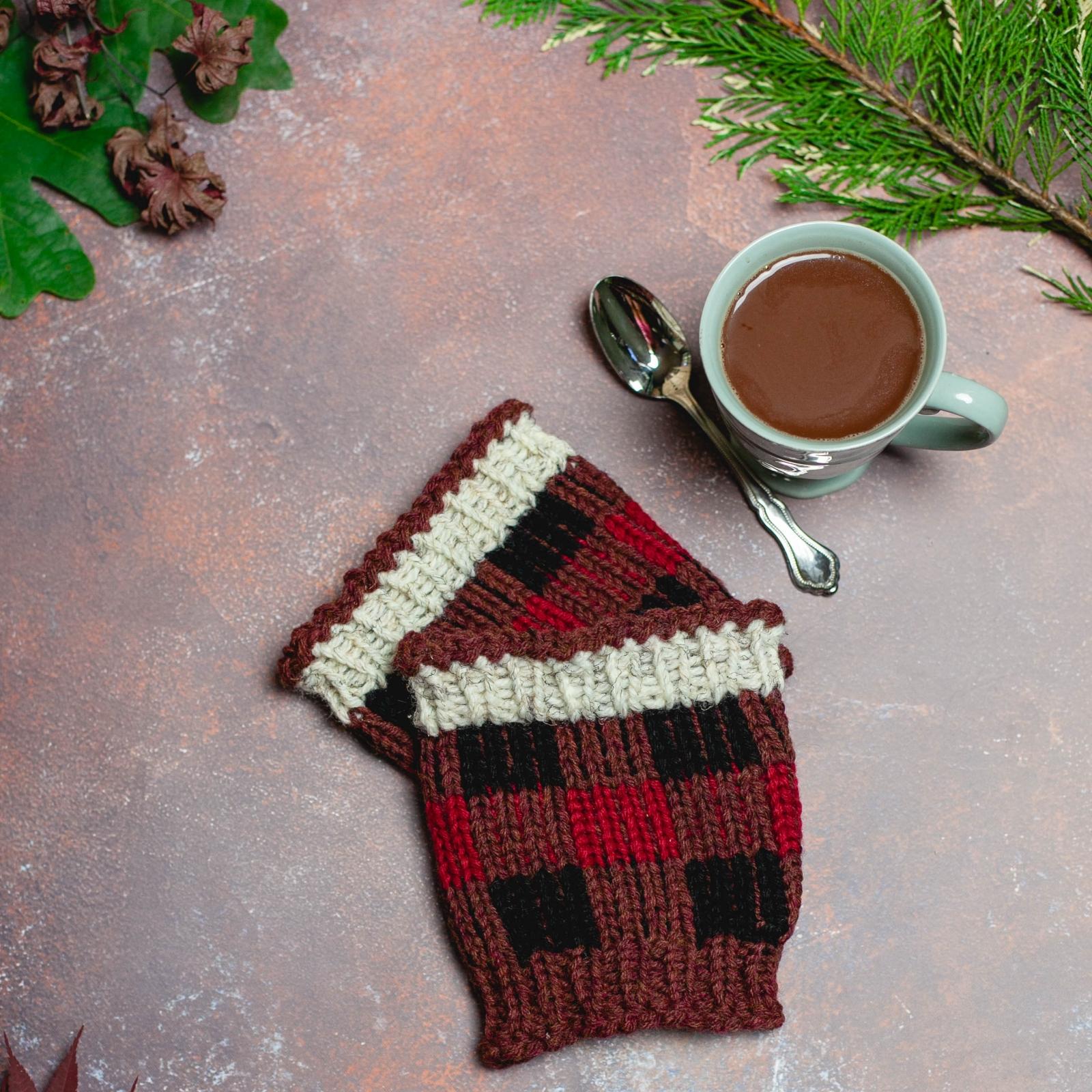 aeffa49929353 Loom Knit Buffalo Plaid Hat   Boot Toppers Pattern Set. Extra Warm Winter  Loom K