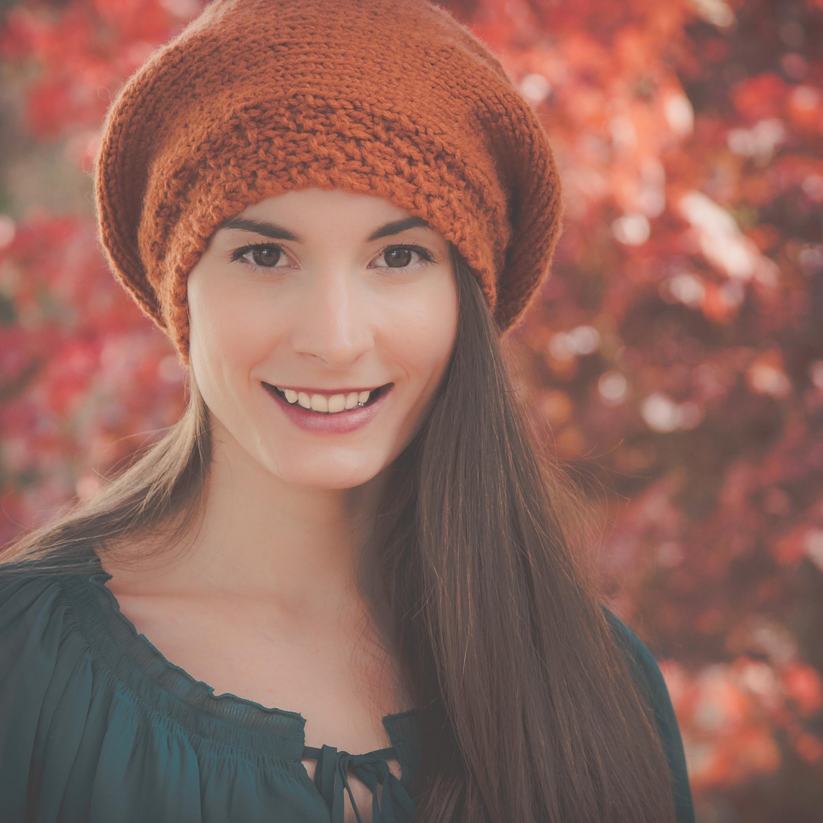 Loom Knit Beret Hat Pattern Painters Cap Slouch Hat Adult Teen