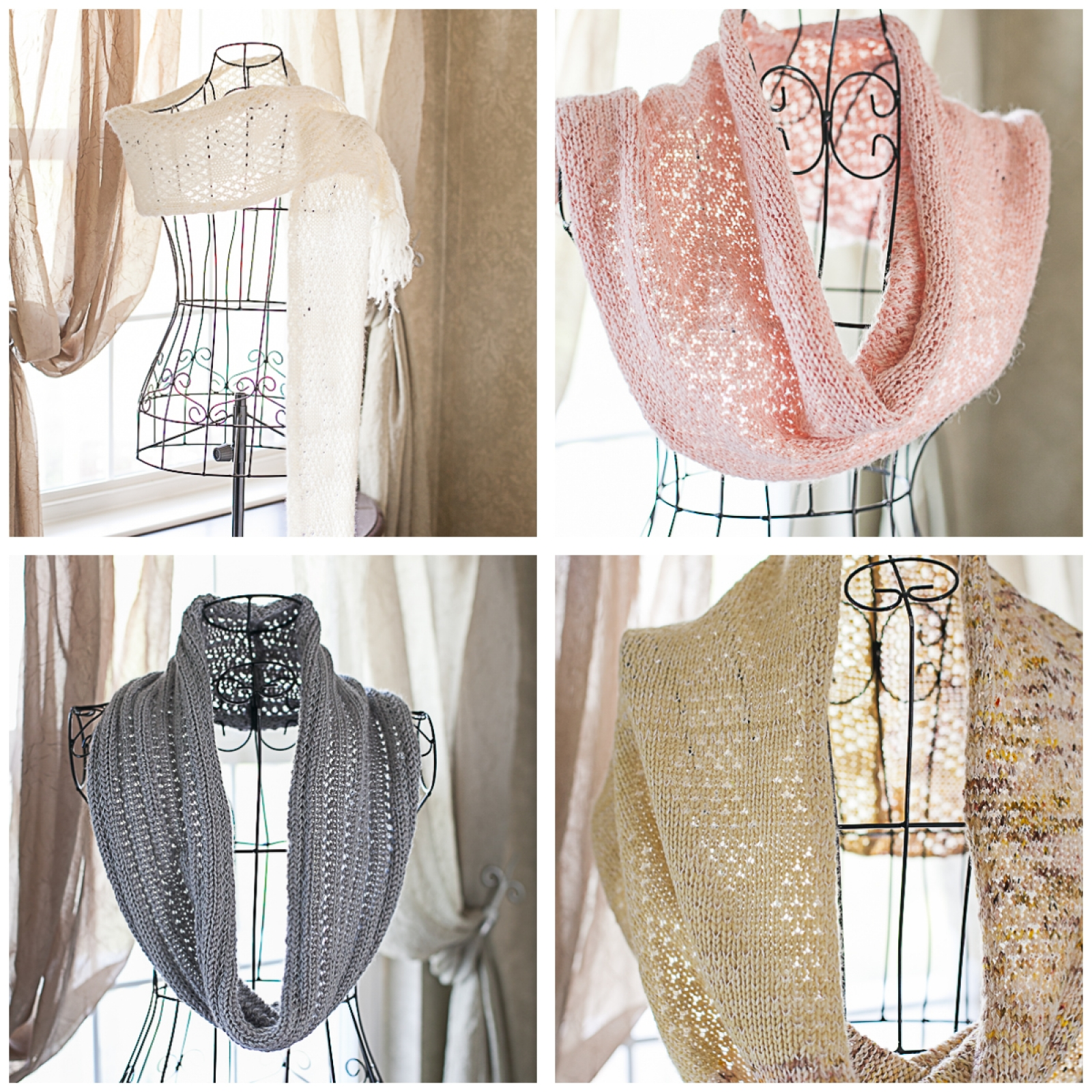 Loom Knit Lace Shawl Snood Cowl Scarf Table Runner Patterns