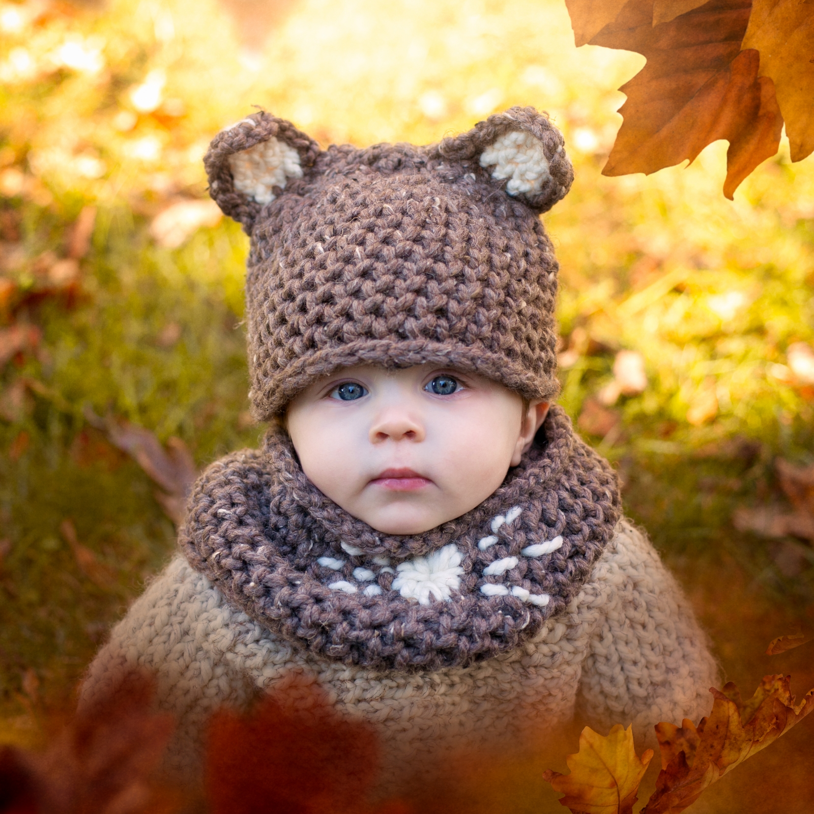 Loom Knit Mouse Hat And Cowl Set Pdf Pattern Sized For