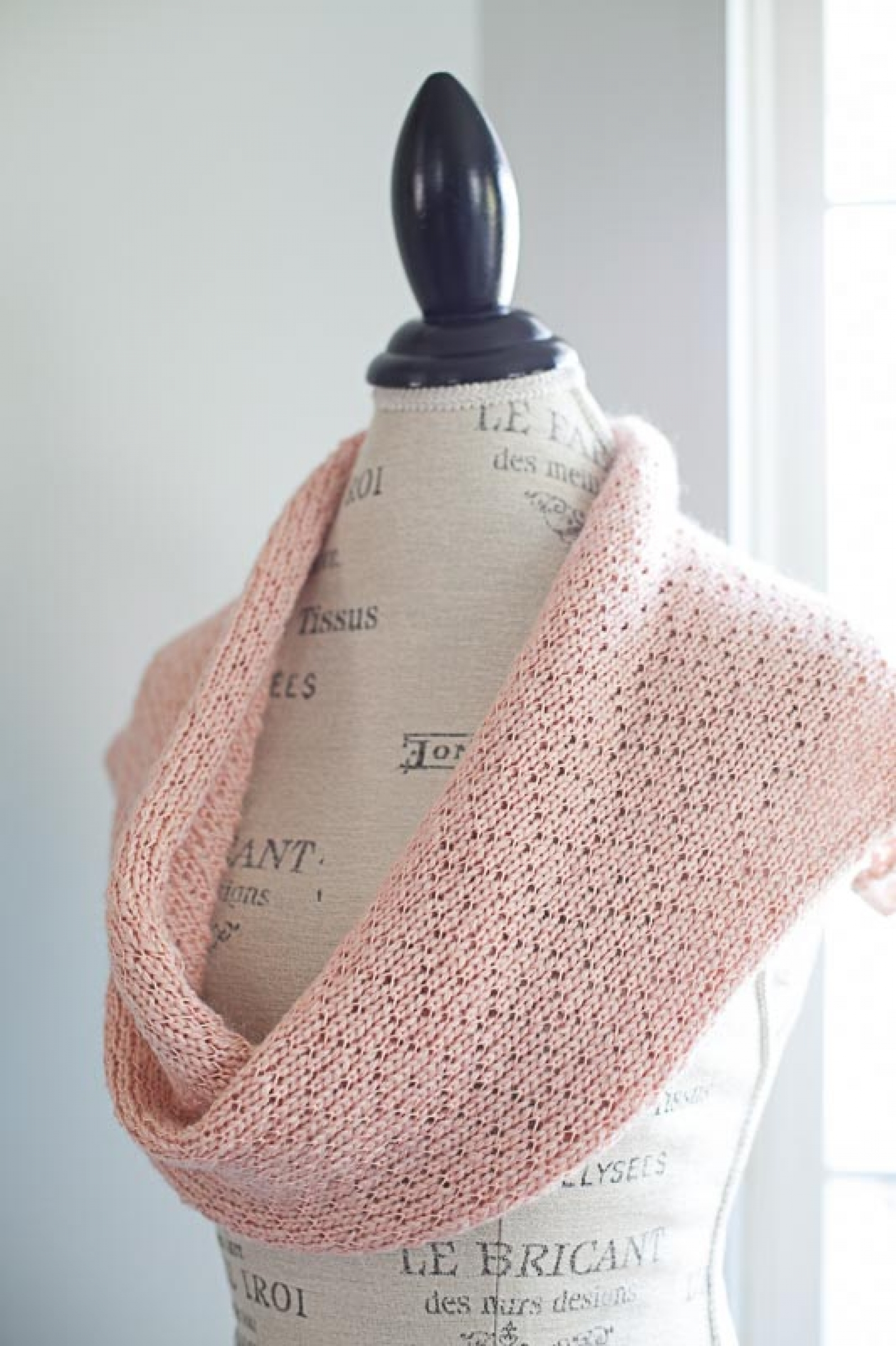 Loom Knit Lace Shawl Snood Cowl Scarf Table Runner