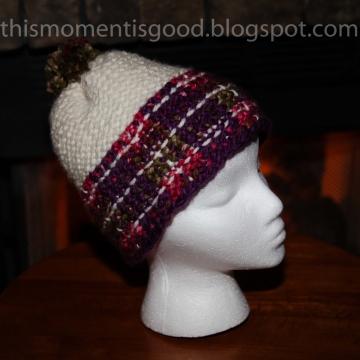 Loom Knit Plaid Hat Pattern. The Malinda Plaid Hat Pattern, ladies hat, ski hat. PATTERN ONLY! Available for immediate download.