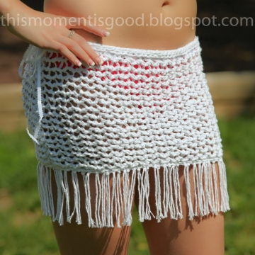 Loom Knit Swimsuit Cover-up PATTERN!  Pattern is Sized for small, medium and large. PATTERN ONLY! Great summer knitting project!