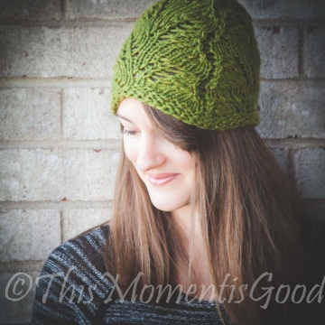 Loom Knit Lace Hat PATTERN. Fern Lace Hat Lightweight Lace Hat Pattern Ladies Knit Hat Round Loom Pattern. PDF PATTERN download.