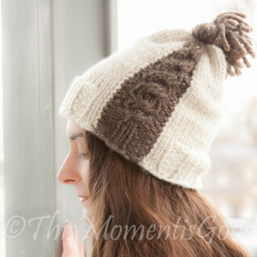 Loom Knit Cable Hat PATTERN. The Cable Express Hat PATTERN. Instant PDF download. Stylish single cable hat. Can be knit in any size.