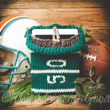 Loom Knit iPad Cover Pattern, loom knit E-Reader Sleeve Pattern Football themed Sleeve PATTERN Device Cover PATTERN. Instant PDF Download.