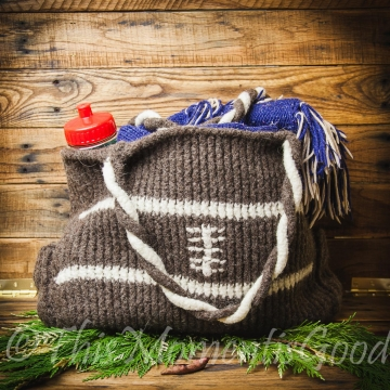 Loom Knit Football Theme Tote Bag PATTERN. Loom Knit felted tote Pattern handbag PATTERN 2 Designs Included! Immediate PDF Pattern Download.