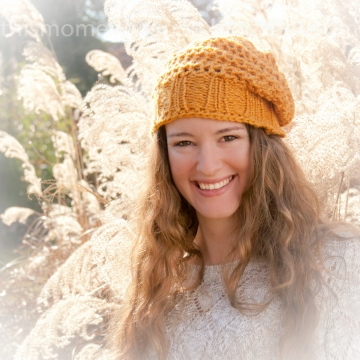 Loom Knit Slouchy Beanie/Beret PATTERN!  PATTERN ONLY! Ladies Loom knit hat pattern!  Crochet Look. Available for instant download.