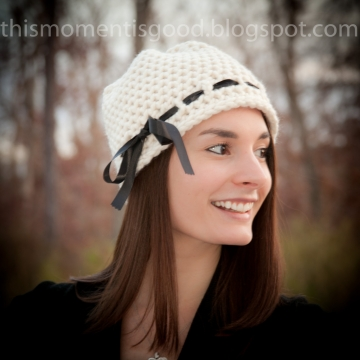 Loom Knit Ladies Hat Pattern.  PATTERN ONLY! Available for instant download. Loom Knit this elegant hat today!