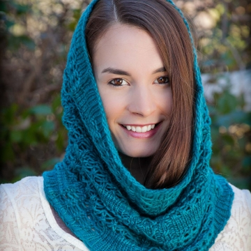 Loom Knit Snood Cowl PATTERN. Lace Snood, Infinity Scarf, Easy lace loom knit, Round Loom, Loom Knit Cowl. Instant PDF PATTERN Download.