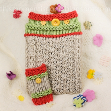 Loom Knit iPad Tablet Cover PATTERN. Plus iPhone Sock Pattern. iPad Sleeve Loom Knitting PATTERN ONLY!