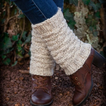 Loom Knit Legwarmer PATTERN. Forest Walk Ladies Legwarmers/ Boot toppers. Child, Teen & Adult Sizes. Instant PDF PATTERN Download.