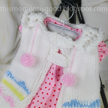 Loom Knit Cape For Baby Pattern:  Size 12-18 Months. This Sleeveless Sweater is Perfect for Spring and Summer! PATTERN ONLY!