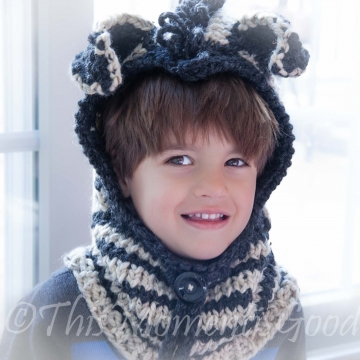 Loom Knit Hood (3) PATTERN Collection, Fox hood, Zebra Hood & Puppy Hood. Toddler and Child Sizes. PDF PATTERN Instant Download.