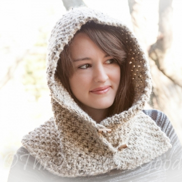 Loom Knit Country Hood With Cowl PATTERN. Child, Teen & Adult Sizes. Chunky, Oversized Hood Cowl Pattern. Instant PDF PATTERN Download.