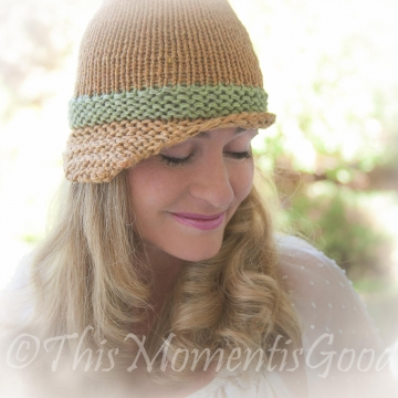 Loom Knit Folded Brim Cloche Hat PATTERN. Vintage Style Hat PATTERN.PDF is available for immediate download. Ladies Hat Pattern