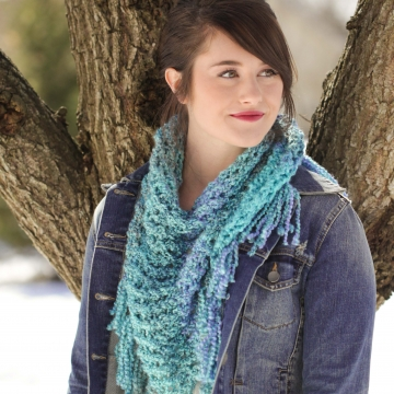 Loom Knit Triangle Scarf