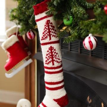 Loom Knit Fair Isle Christmas Stocking