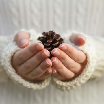 Loom Knit Fingerless Gloves Pattern