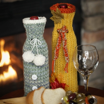 Loom Knit Wine Bottle Sweaters