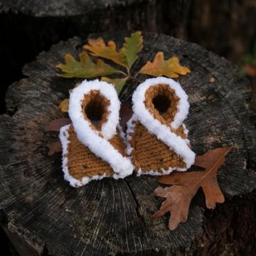 Loom Knit Baby Mocassin Pattern, Baby Shoe Pattern
