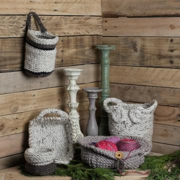 Loom Knit Basket PATTERNS, Owl Basket, Bread Basket, Yarn Basket, Door Knob Basket, Round Basket, Rectangular Basket, (5) PDF PATTERNS included.