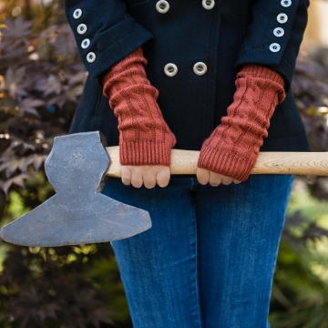 Loom Knit Lightweight Fingerless Gloves Mitts Pattern