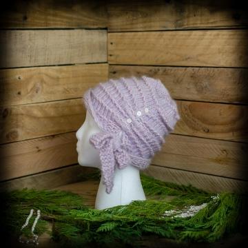 Loom Knit Cloche Hat PATTERN, Side Tie Bow, Vintage, Feminine, Dressy, Hat PDF PATTERN