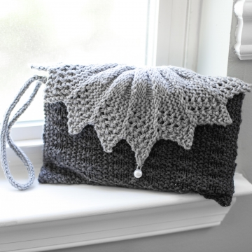 Loom Knit Clutch, Purse, Evening Bag, Wristlet PATTERN. Elegant Evening Bag, Wedding and Party Purse. 1 PDF Pattern.