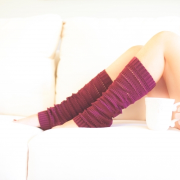 Loom Knit Legwarmer Pattern, Rib and Eyelet Legwarmer Pattern
