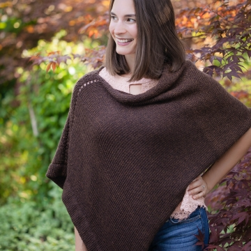 Loom Knit Poncho Pattern. The Rebecca Poncho Has An Elegant Design and Is Loom Knit From One Rectangle. Easy Fold Cape Design. PDF PATTERN Download.