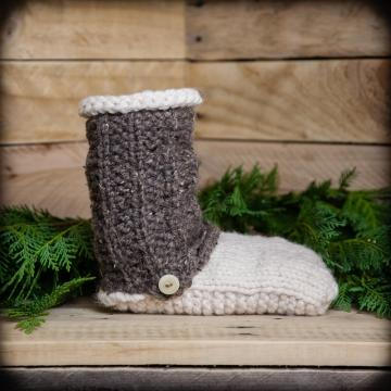 Loom Knit Slipper Boot PATTERN, Loom Knit Shoe, Men, Women, Teen Sizes, PDF PATTERN Download. Unisex