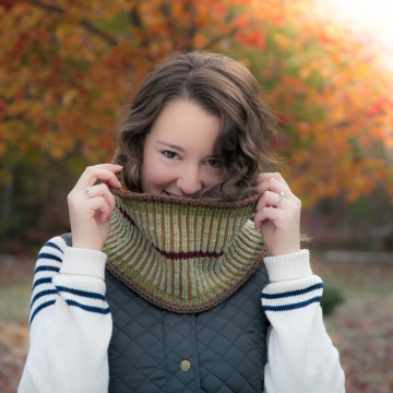 Loom Knit Brioche Cowl PATTERN, Cowl, Scarf, Neckwarmer, Preppy, Equestrian Style, Fall Knits, PDF PATTERN Download.