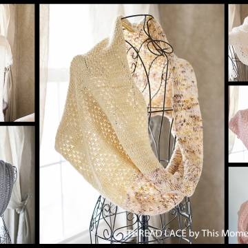 Loom Knit Lace Shawl, Snood, Cowl, Scarf, Table Runner Pattern Collection. 4 designs, for 20+ projects! 1 PDF Pattern e-book.