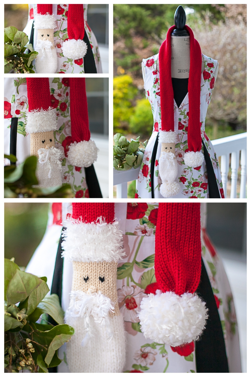 Loom Knit Skinny Santa Scarf Free Pattern This Moment Is Good
