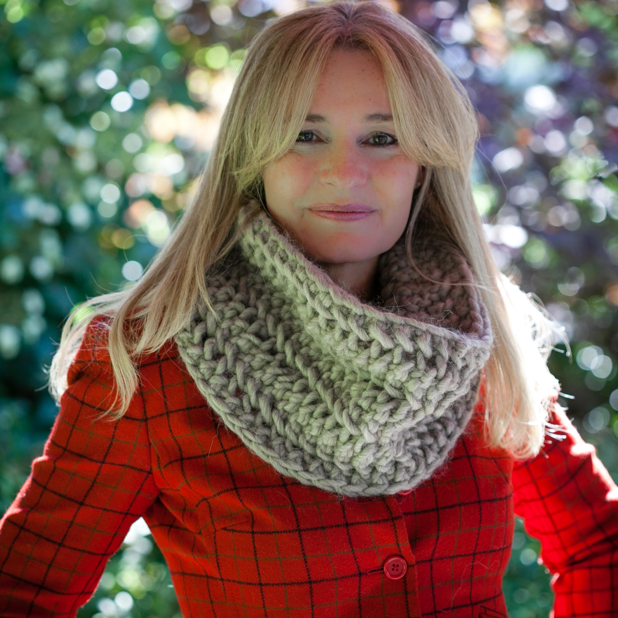 Loom Knit Cowl Pattern, Chunky Lace Cowl Pattern   This ...