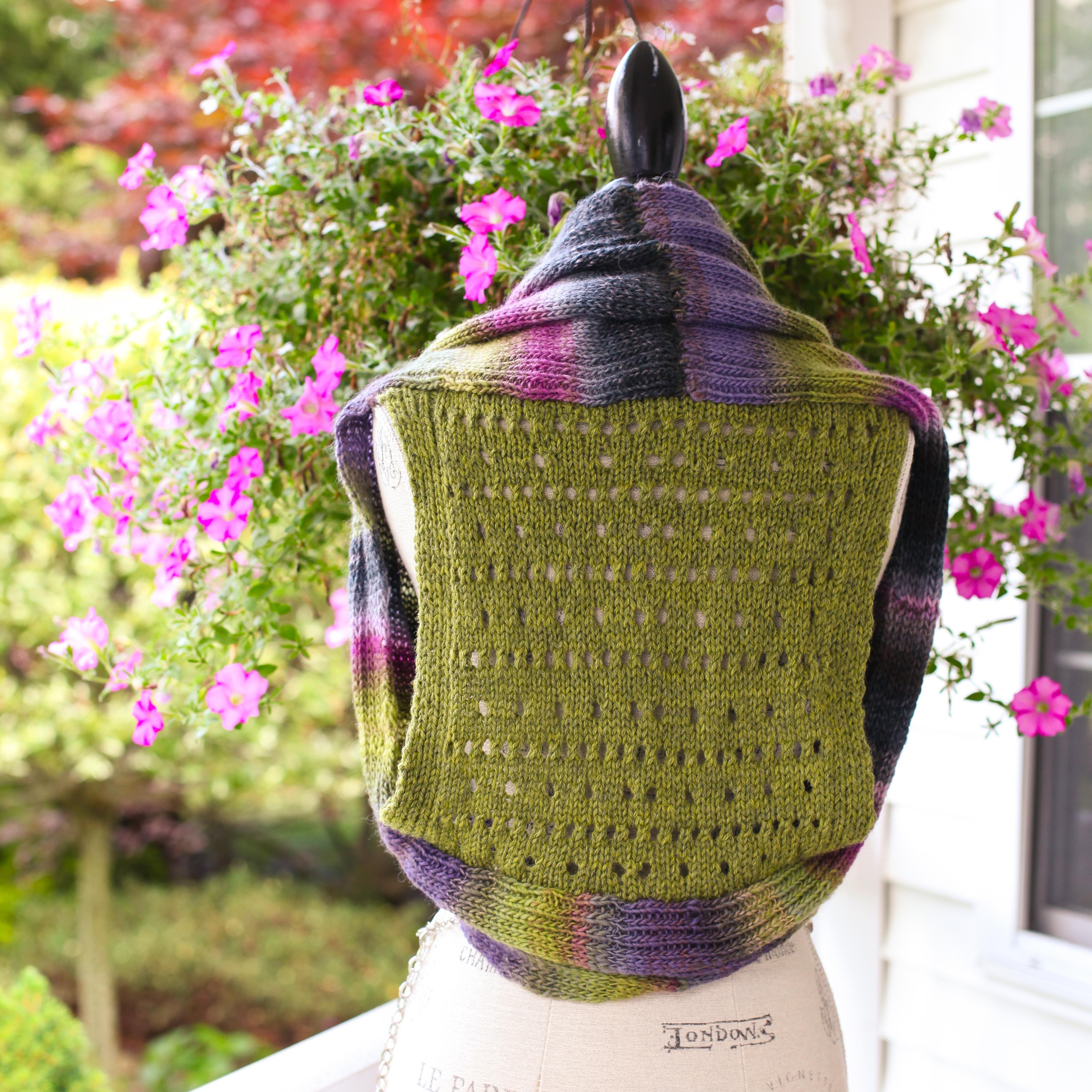 Loom Knit Vest Pattern Shrug Style Vest With Lace Back
